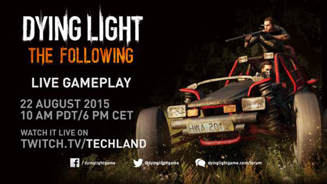 Dying Light: The Following expansion livestream on twitch
