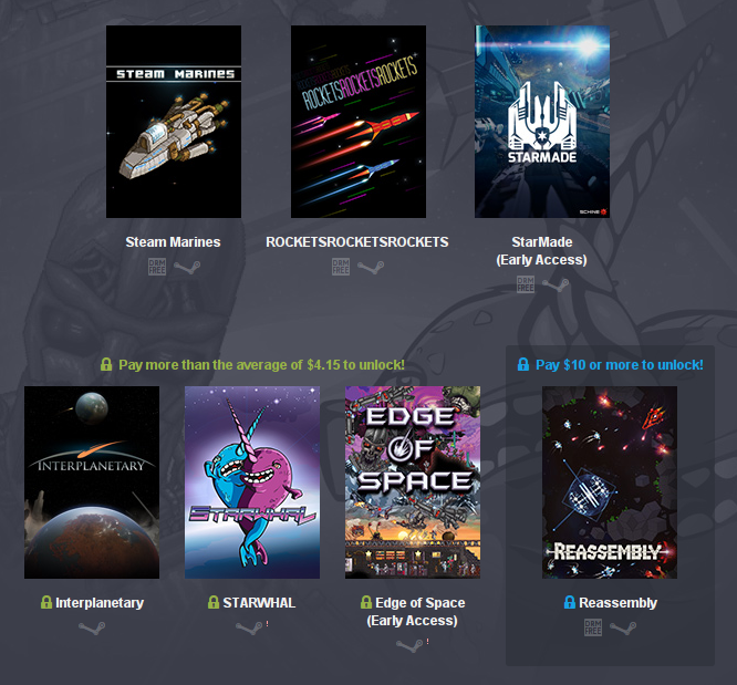 humble weekly bundle the return of space boy linux mac windows pc screen