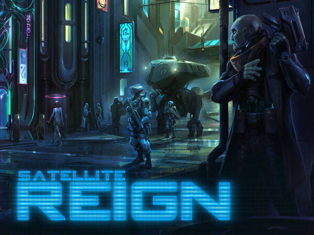 Satellite Reign cyberpunk RTS releases on Linux
