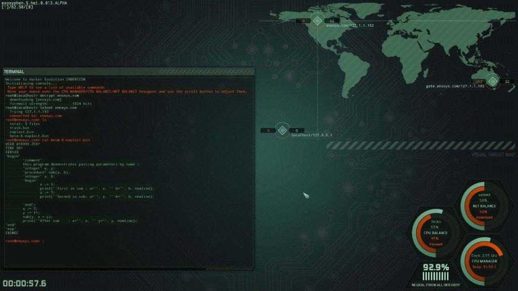 Hacker Evolution IMMERSION linux mac pc screenshot 03