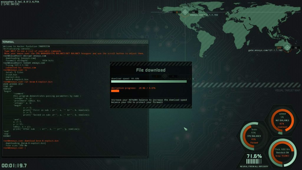 Hacker Evolution IMMERSION linux mac pc screenshot 04