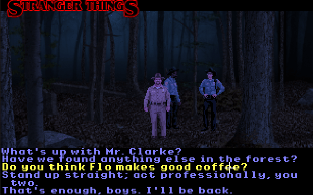 stranger things free point and click sceenshot
