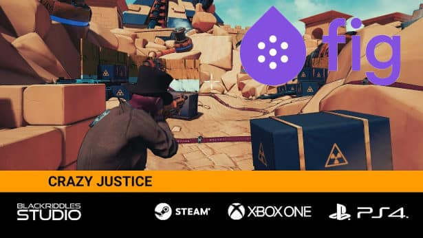 Crazy Justice third-person shooter game on Fig
