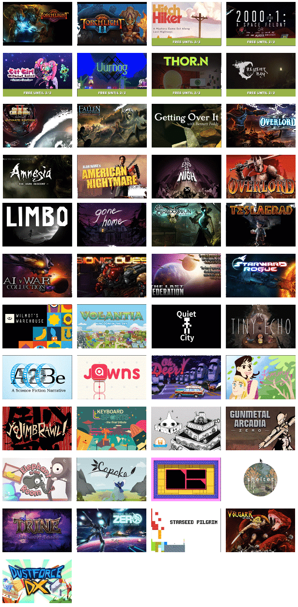Humble Trove Free Games for monthly subscribers via linux mac windows gaming list