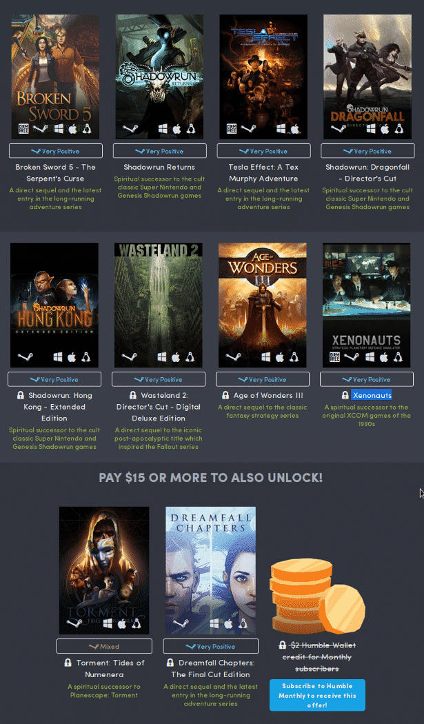 humble classics return bundle launches today for linux mac windows games