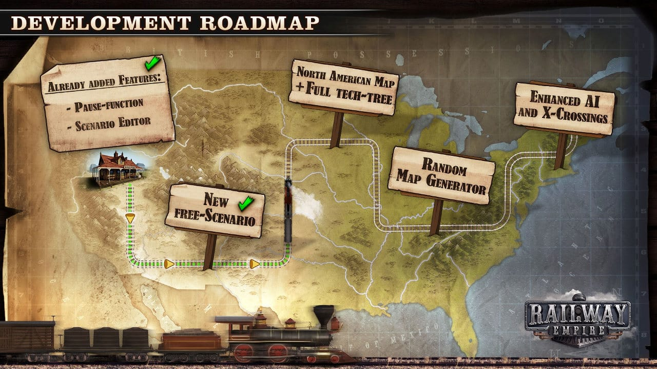 railway empire games free updates roadmap for linux and windows on steam