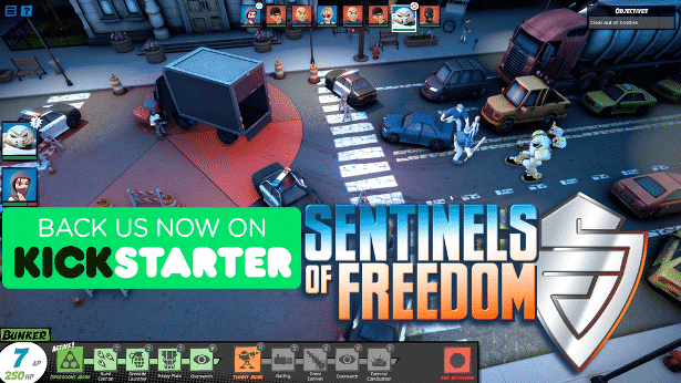 Sentinels of Freedom a tactical Kickstarter