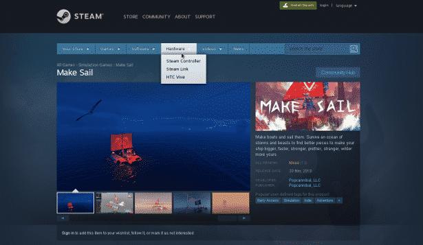 Valve hides Steam Machines via website