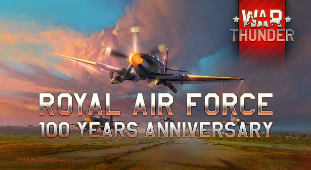 war thunder celebrates 100 years of royal air force on linux mac windows