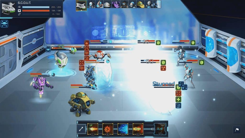 robothorium roguelike rpg strategy linux mac windows screenshot fight