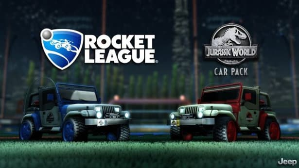 jurassic world car pack dlc just announced for rocket league on linux mac windows