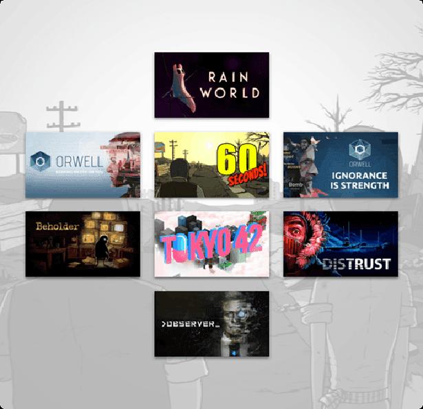 humble dystopian bundle has some good games on linux mac windows