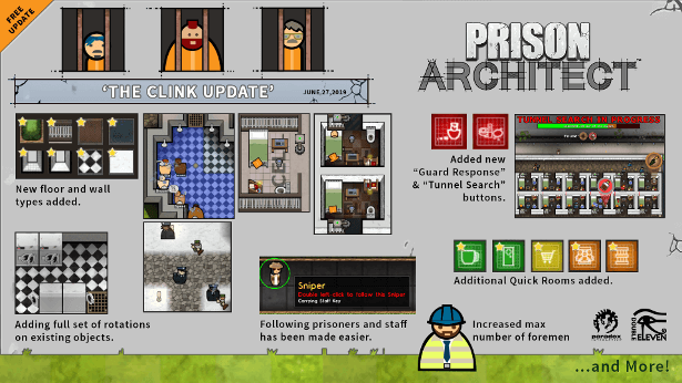 The Clink Update now live for Prison Architect