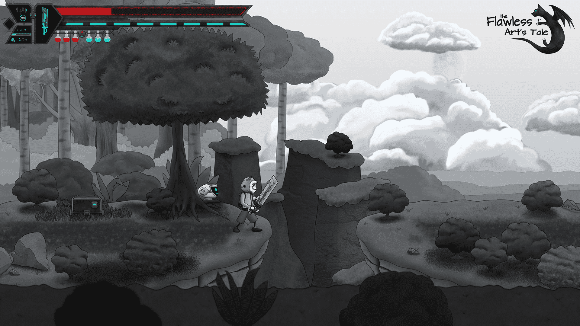 the flawless arts tale a new metroidvania cliffs in linux mac windows pc games