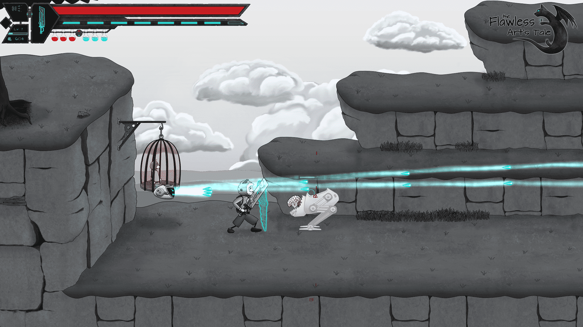 the flawless arts tale a new metroidvania shooting in linux mac windows pc games