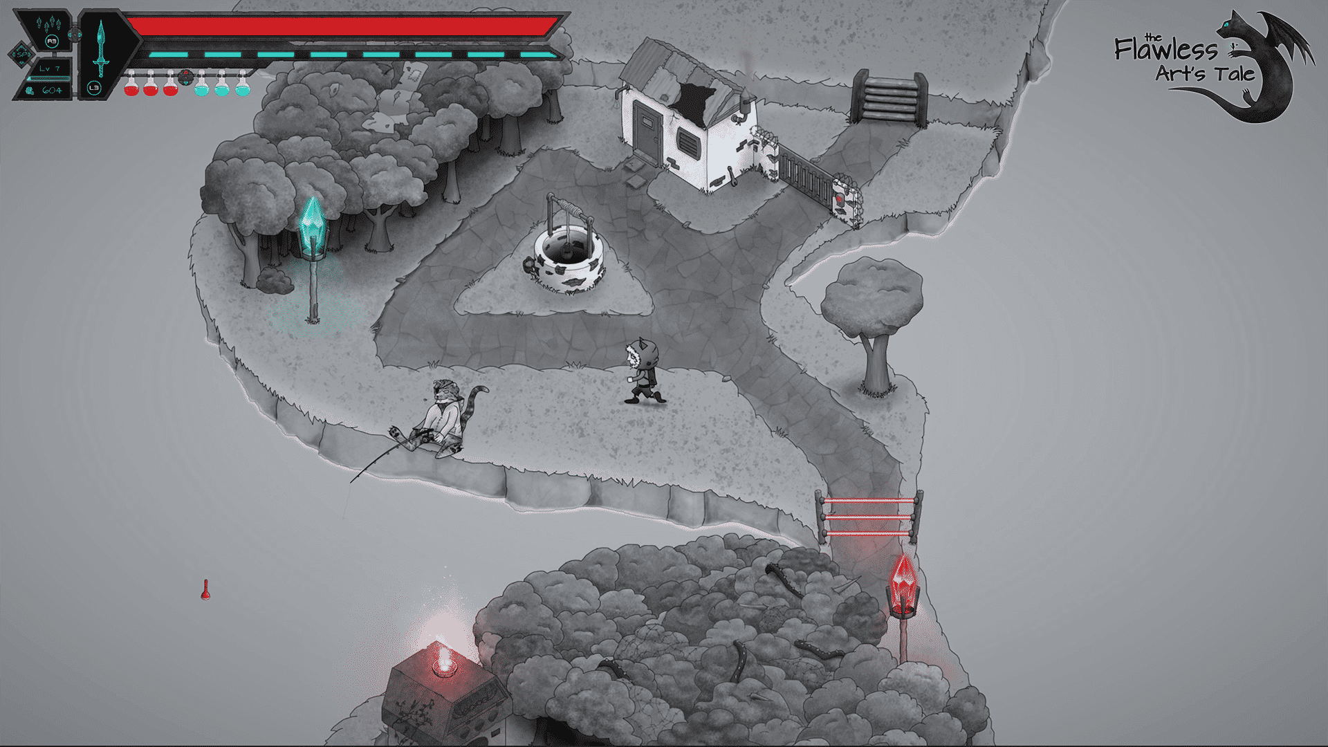 the flawless arts tale a new metroidvania world map fishing in linux mac windows pc games