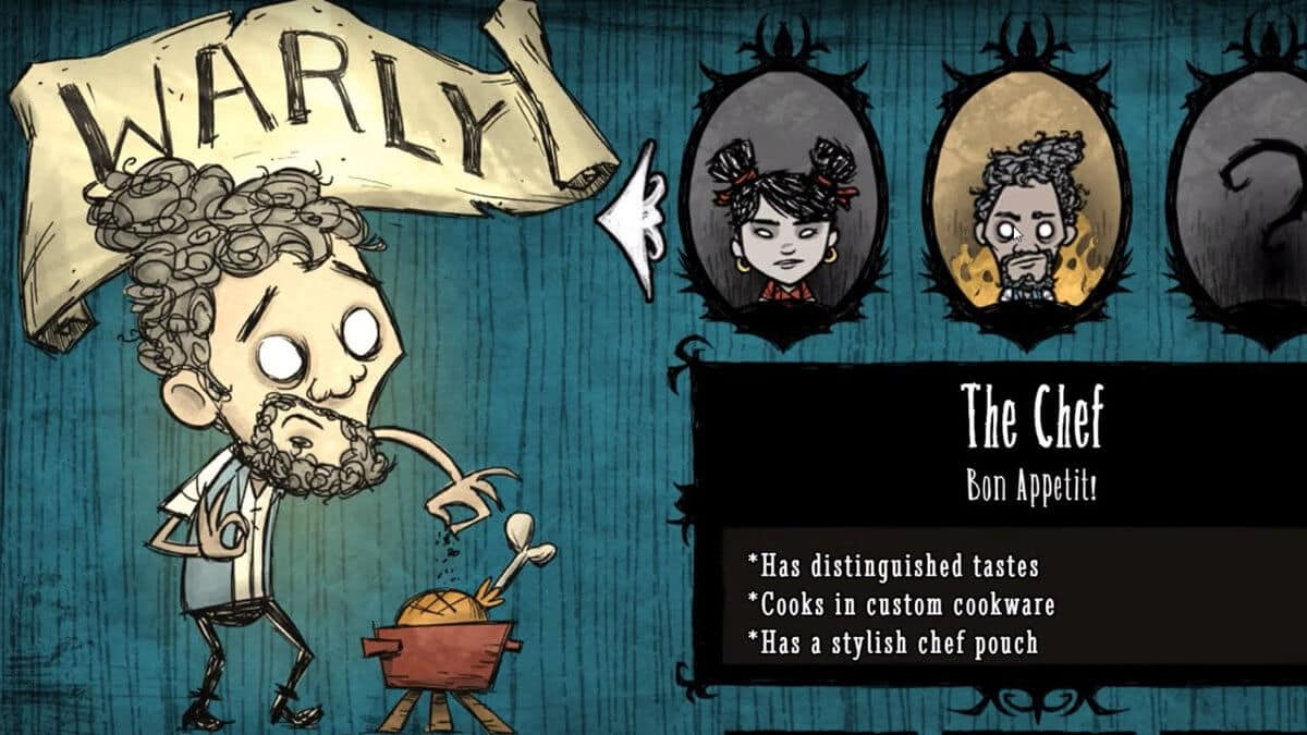 warly a new character for dont starve together on linux mac windows pc