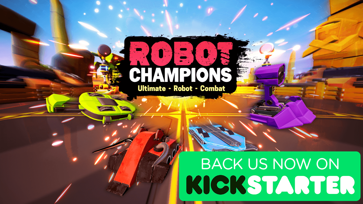 robot champions combat game on kickstarter with linux windows pc support