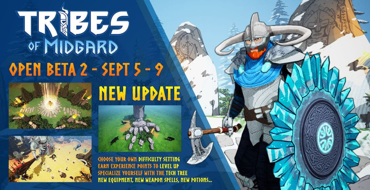 tribes of midgard coop survival releases open beta 2 for linux windows pc