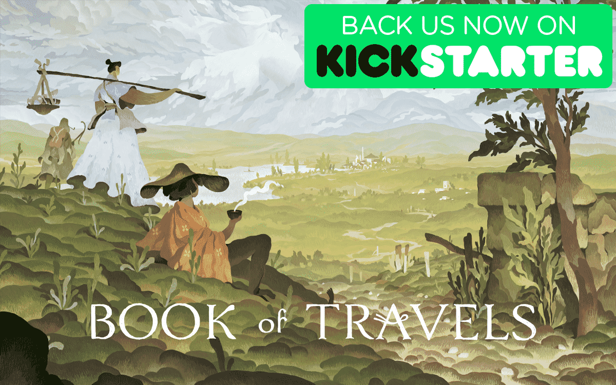 Book of Travels RPG is killing it on Kickstarter