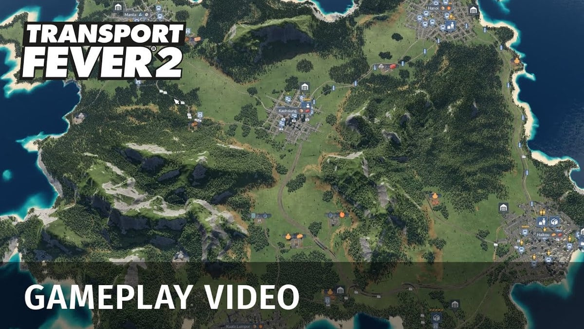 transport fever 2 reveals a gameplay trailer for linux and windows pc
