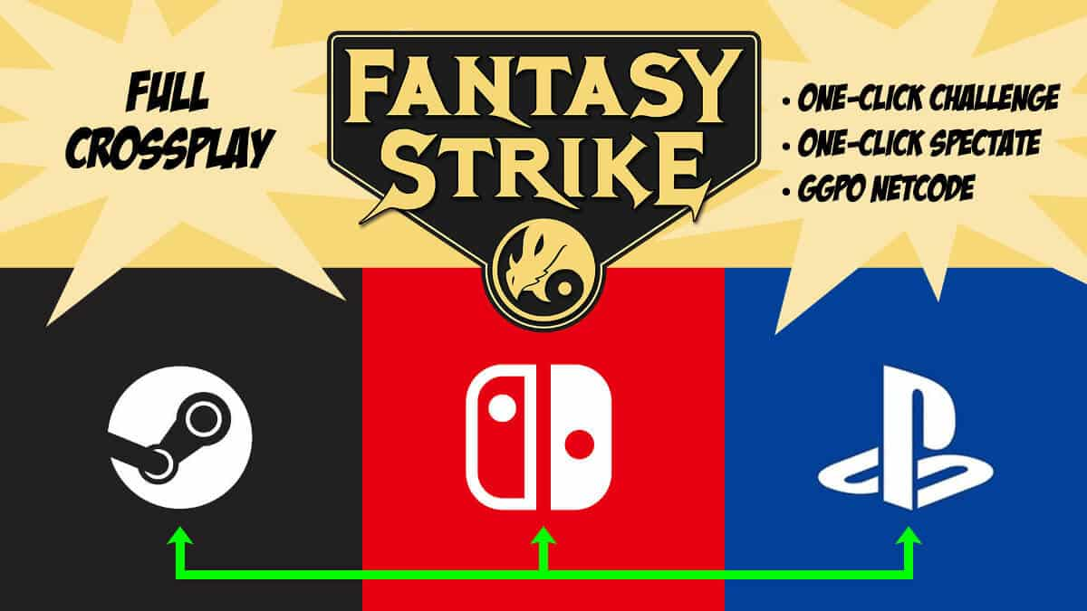 Crossplay support in Fantasy Strike is now available