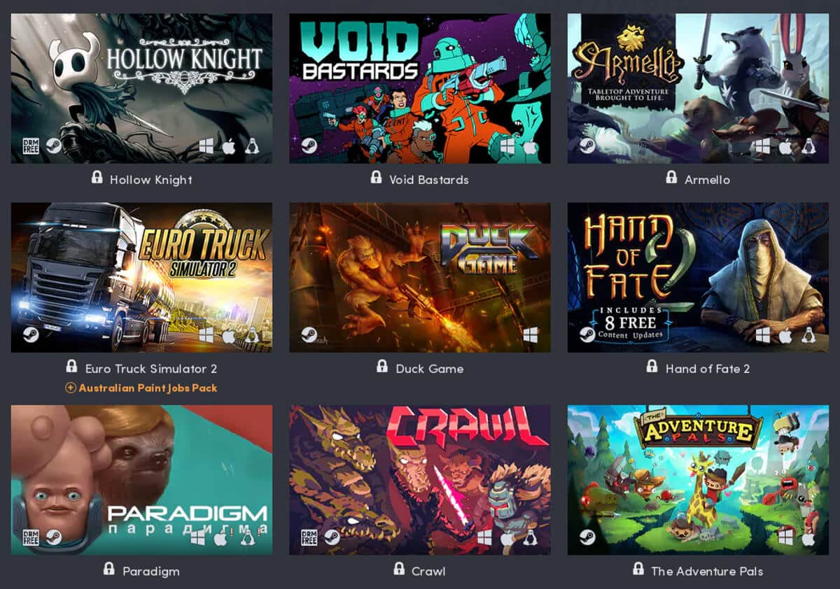 humble australia fire relief bundle games list for linux mac windows pc