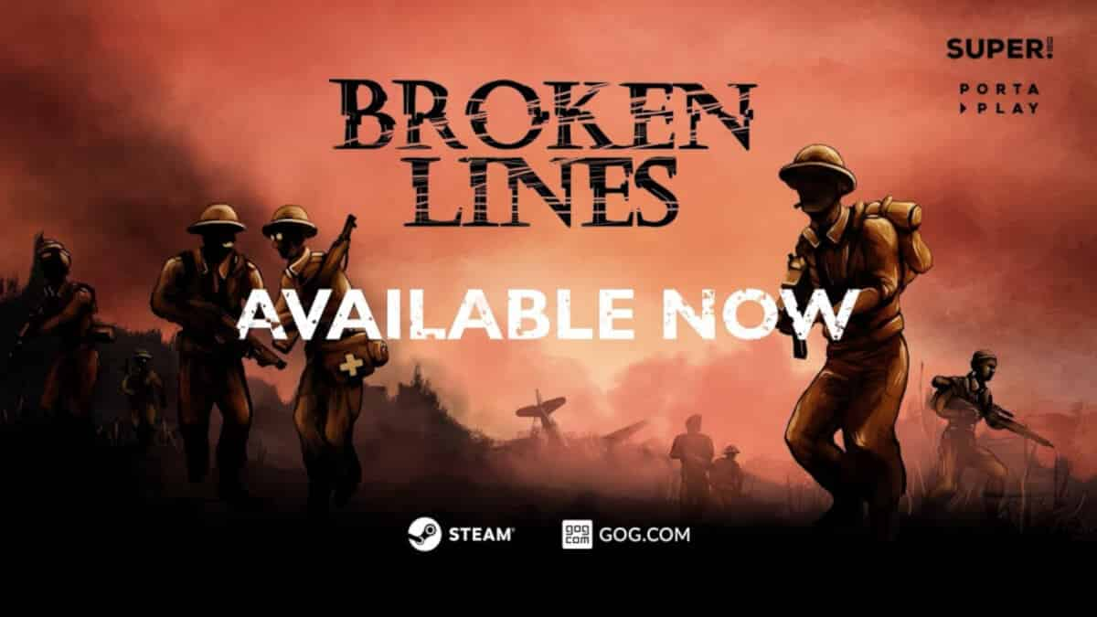 Broken Lines story based tactical RPG releases