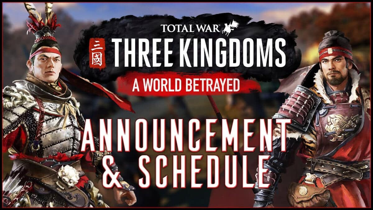 a world betrayed announced for total war: three kingdoms on linux mac windows pc