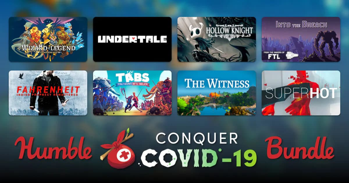 humble conquer covid 19 bundle has a ton of games books for linux mac windows pc