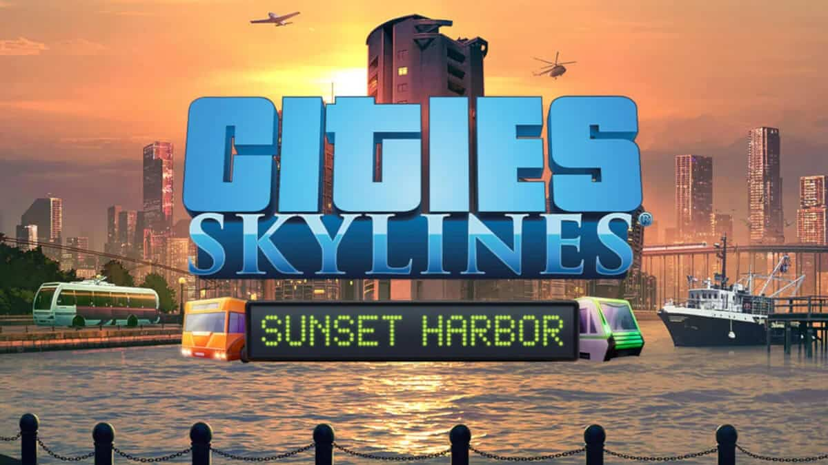 sunset harbor game expansion releases for cities: skylines on linux mac windows pc