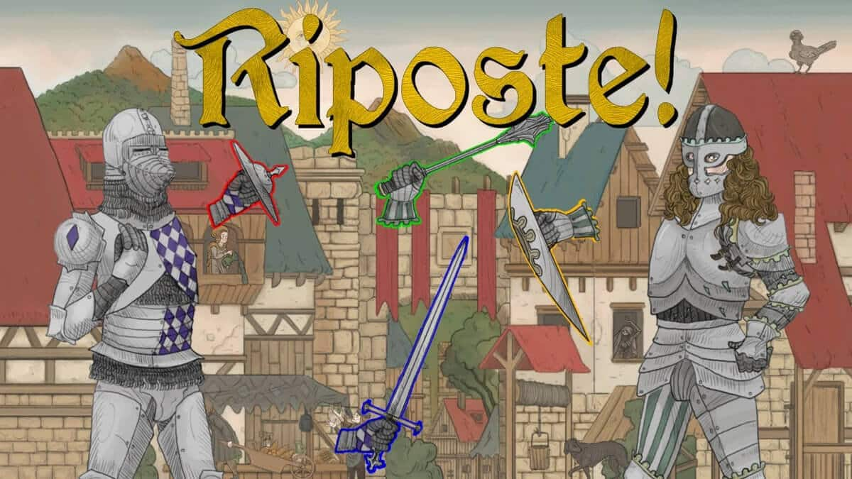 riposte medieval party sword fighting game and a linux port beside windows pc