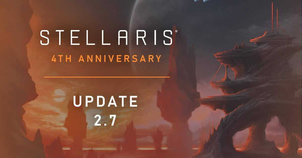 stellaris celebrates four Years with free weekend update 2.7 for linux mac windows pc