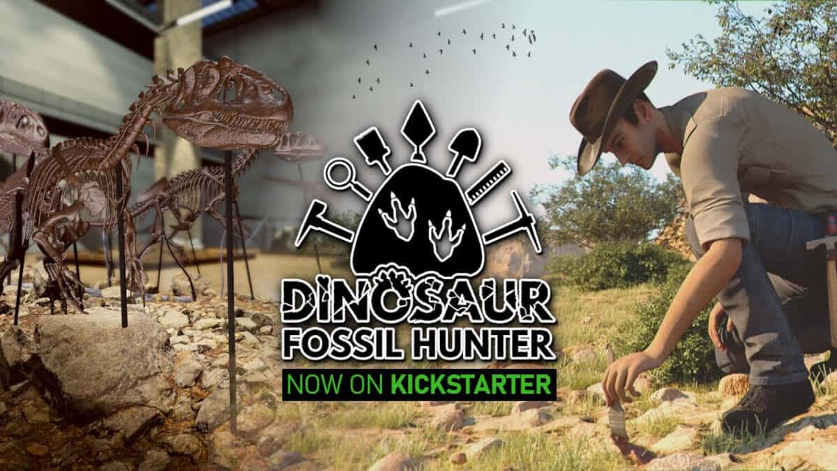 dinosaur fossil hunter simulator almost funded on kickstarter for windows pc and linux