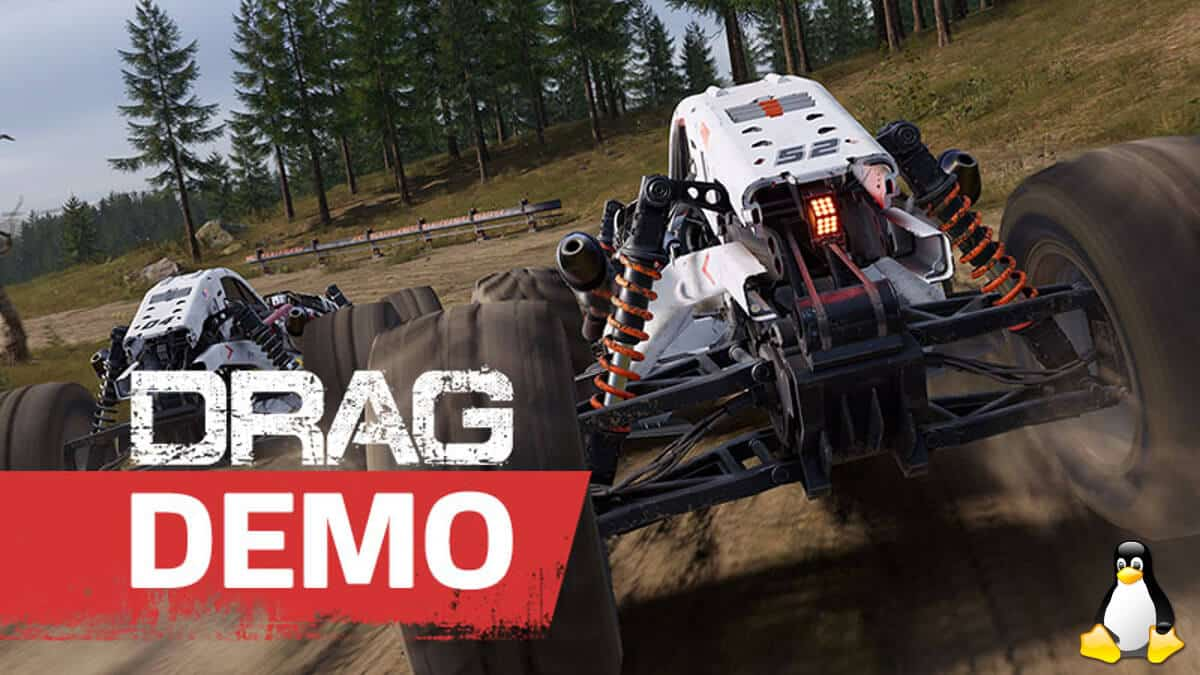 drag multiplayer sci-fi racing has a linux demo as well as windows pc