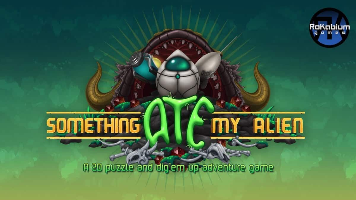 something ate my alien 2d digging and puzzle adventure game releases on linux mac windows pc