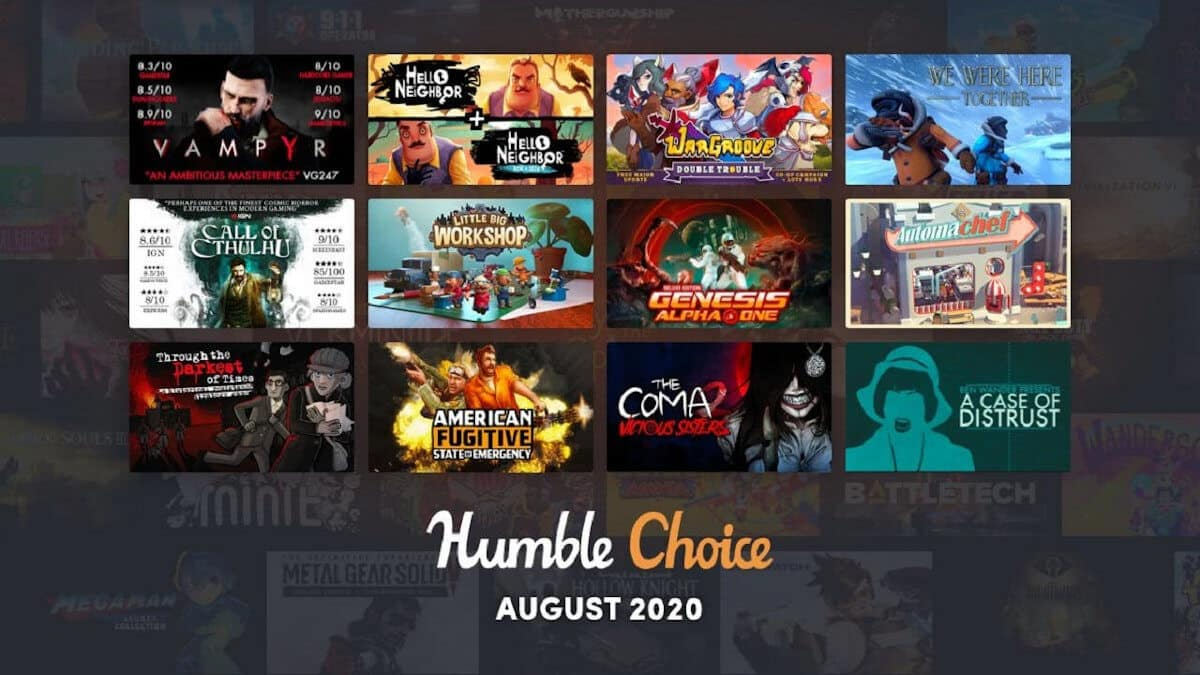 humble choice august 2020 current games arrive for linux mac windows pc