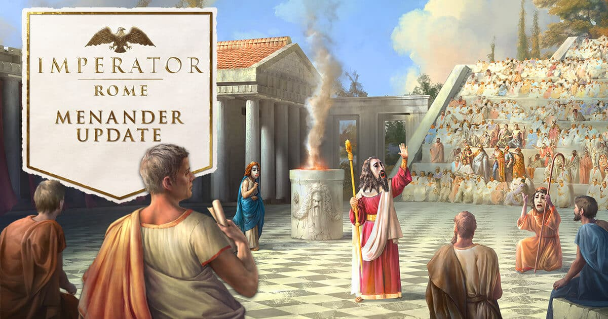 menander update adds depth to imperator: rome on linux mac and windows pc plus the epirus content pack