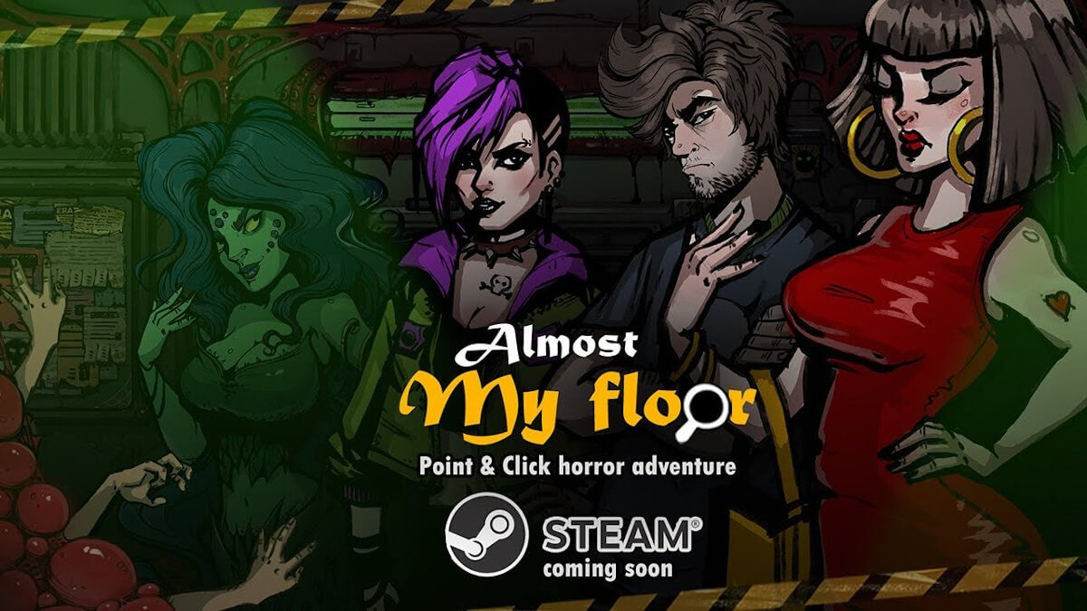 Almost My Floor a horror point and click adventure