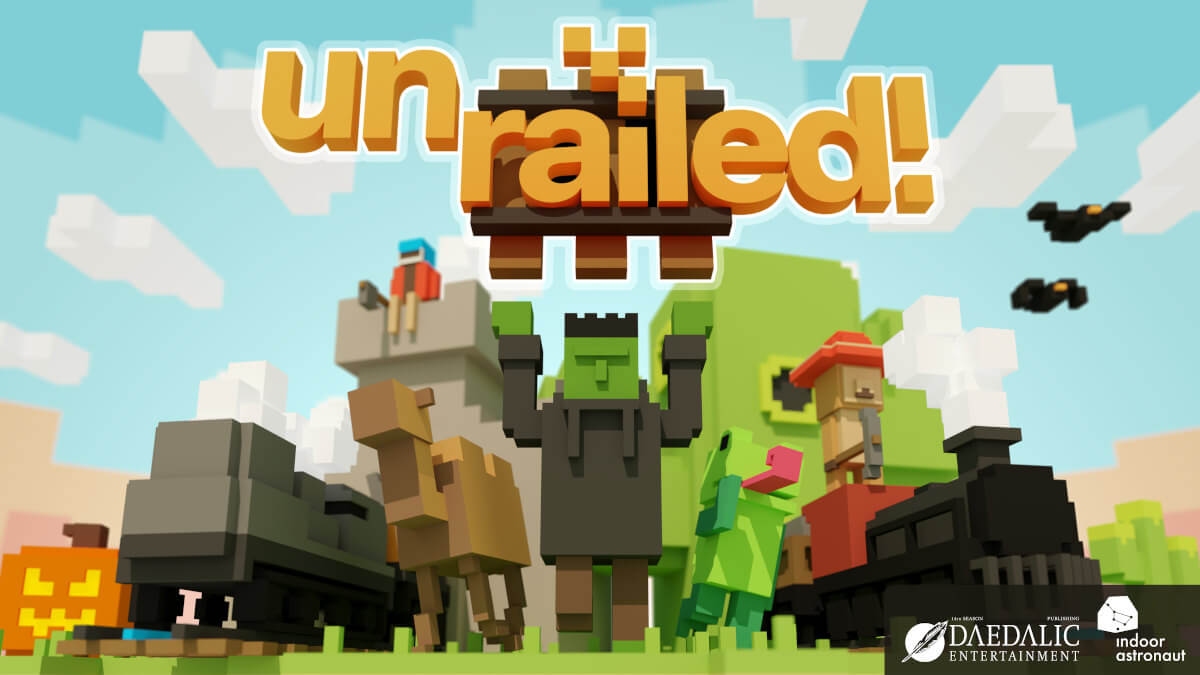 unrailed! co-op multiplayer releases version 1.0 in linux gaming mac windows pc with a sale
