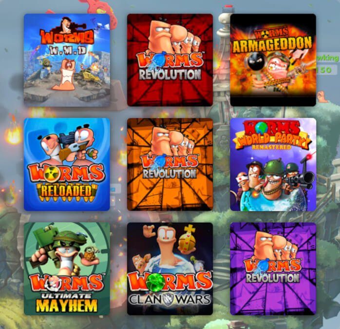 humble worms worms worms bundle releases now with games for linux mac windows pc