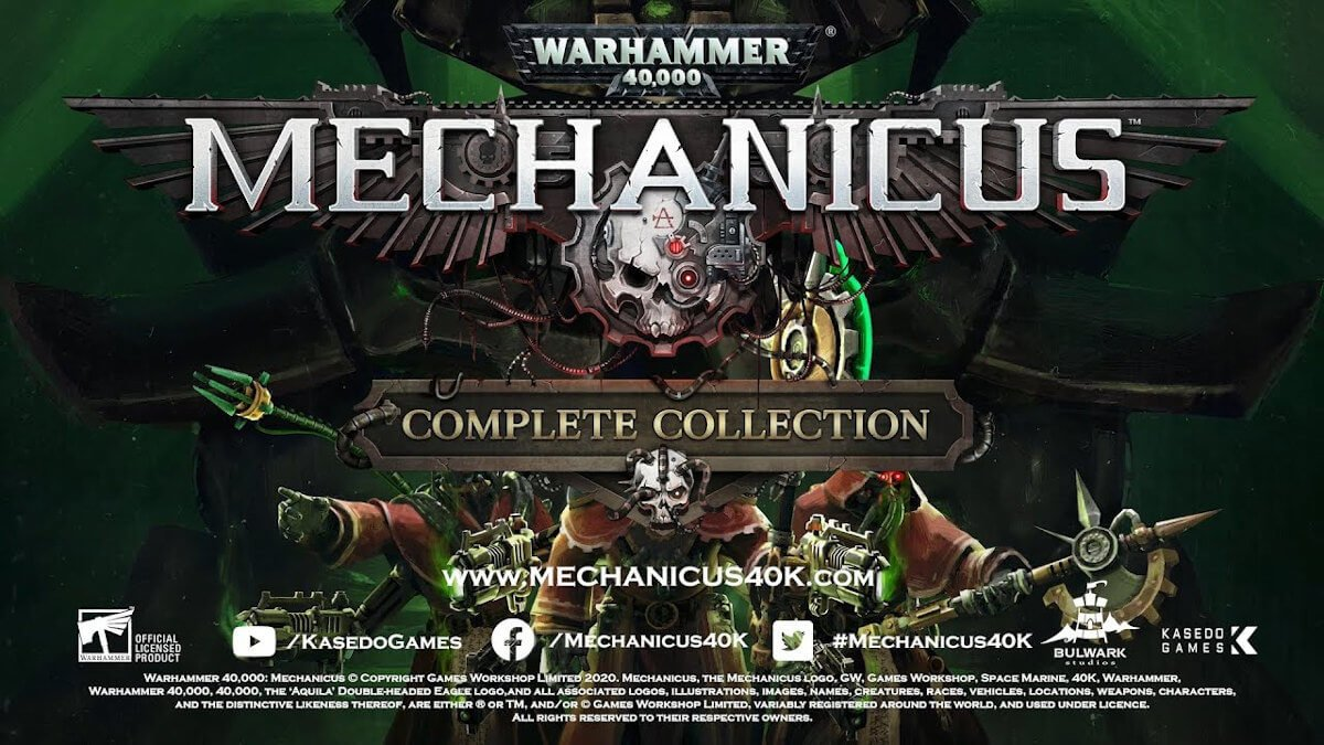 warhammer 40,000: mechanicus - complete collection releases now with a discount in linux gaming mac windows pc