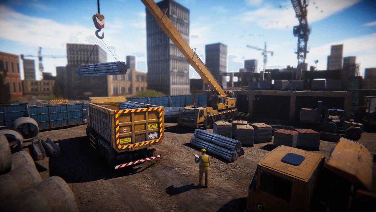 construction worker simulator screenshot 2