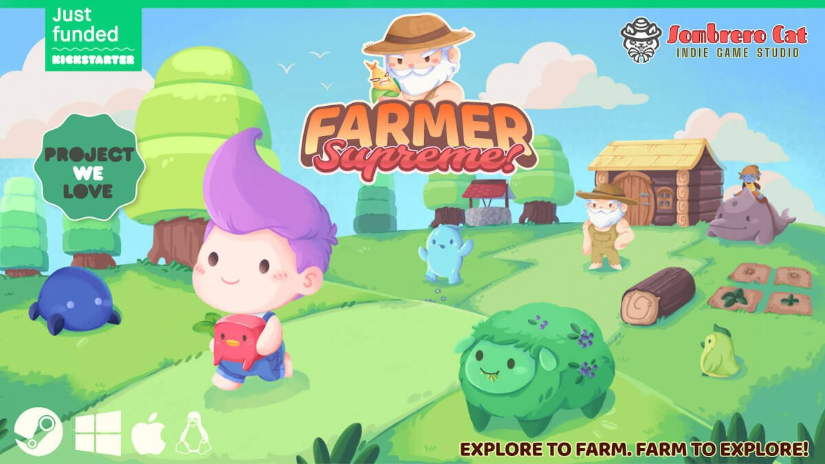 farmer supremethe Zelda-like farming sim funded for linux gaming mac and windows pc
