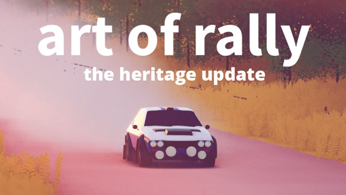 art of rally new cars coming in the Heritage update