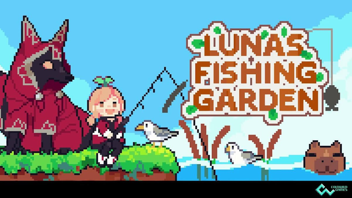 luna's fishing garden a new fishing and building game for linux mac and windows pc