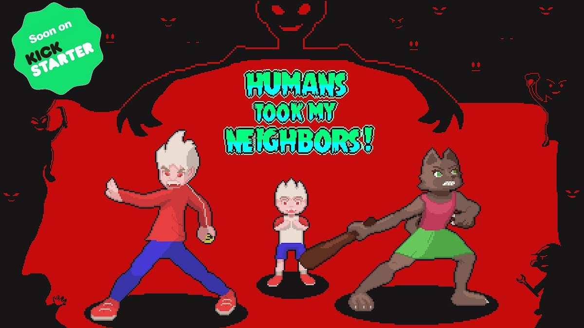 human took my neighbors new top down action game demo and kickstarter coming soon for linux mac and windows pc