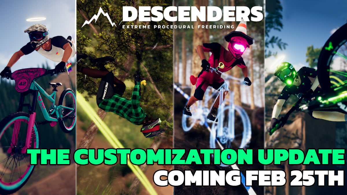 the customization update is coming next week for descenders on linux mac and windows pc