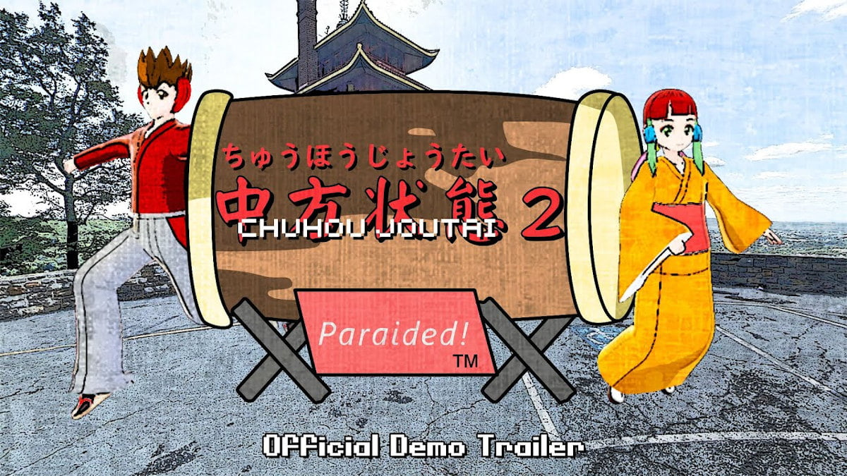 Chuhou Joutai 2: Paraided! bullet hell has a Demo