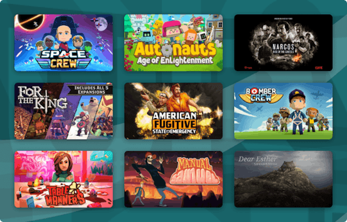 humble curve digital supply-drop bundle list with support in linux gaming mac windows pc